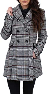 Womens Fit and Flare Wool Car Coat