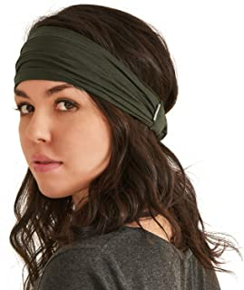 CHARM Mens Womens Headband Bandana – Comfortable Head Bands with Elastic Secure Snug Fit Non Slip for Runners Fitness Spor...