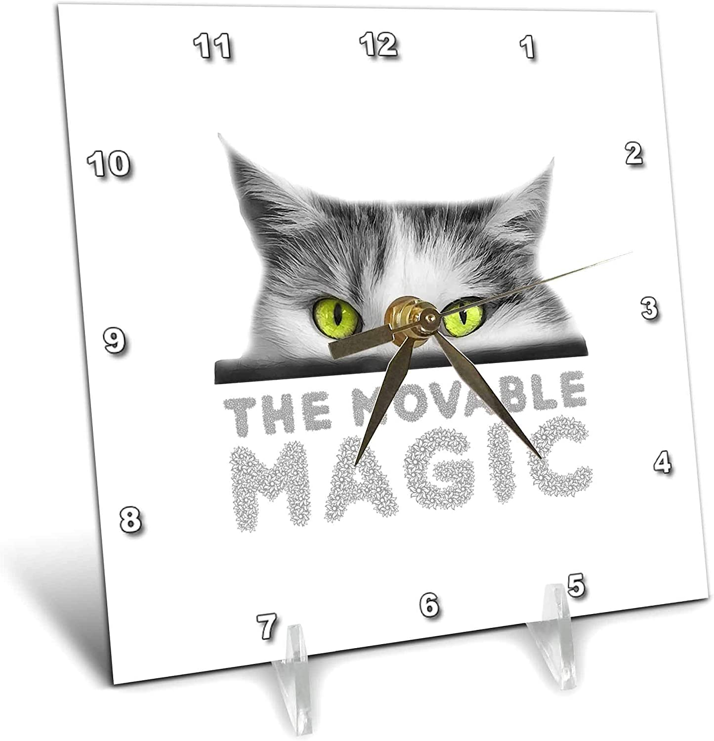 3dRose Alexis Design - Cat Ranking TOP13 Industry No. 1 Eyes Green cat. M Stunning Eyed The