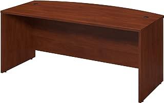 Bush Business Furniture Series C Elite 72W x 36D Bow Front Desk Shell in Hansen Cherry