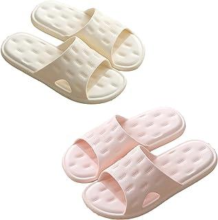 Regilt Shower Sandals Bathroom Slippers for Women Men Soft Eva Quick Drying Anti-Slip Shower Spa Bath Pool Gym Indoor Slid...
