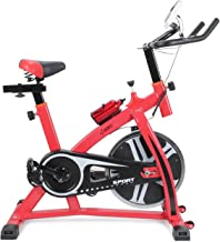 Snow Shop Everything Spinning Bike, Bicycle, Cycling, Fitness Gym, Exercise Stationary Bike Cardio Workout Home Indoor, Red Color
