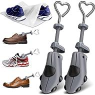 XYH Shoe Stretcher Men Premium Shoe Stretchers Tough Plastic Shoe Trees Adjustable Width and...