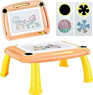 DUTISON Ardoise Magique Enfant Tableau De Dessin Magnétique Coloré à Multicolore Grand Format lanche à Dessin Effaçable Ai...