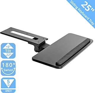 Seville Classics AIRLIFT 360 Adjustable Under-the-Desk Ergonomic Sliding Keyboard & Mouse Tray, 25