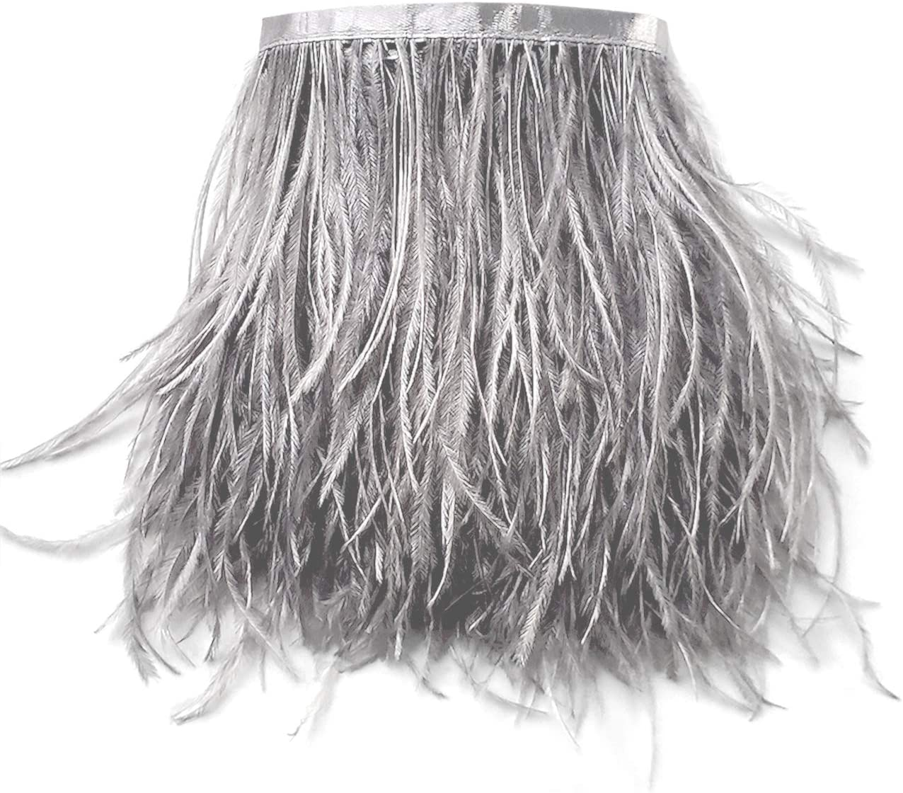 2 Yards New product 5-6inch Dyed Ostrich Feathers DIY Free shipping on posting reviews Dress for Trim Fringe