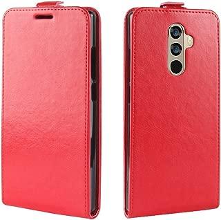 Doogee Mix 2 シェル,[ 衝撃 吸収 ] 革のケース PU レザー 立つ 財布 カバー 耐久性のある フリップ シェル の Doogee Mix 2 Red
