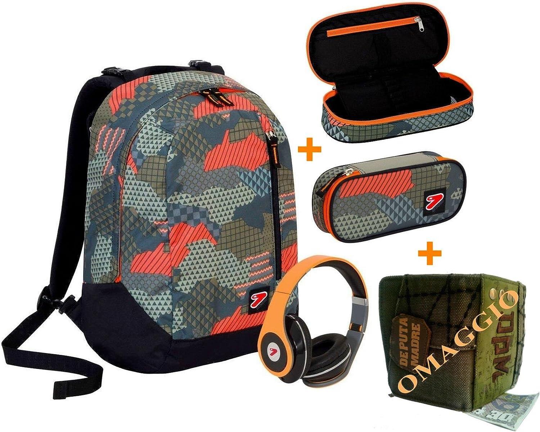 Seven Rucksack The Double New – Camouflage Camouflage Camouflage – Grau Orange Schwarz – mit Stereo-Kopfhörern  Omaggio Portemonnaie DPM – 2 Rucksäcke in 1 wendbar B072XG8DSV | Outlet Online Store  760e8f