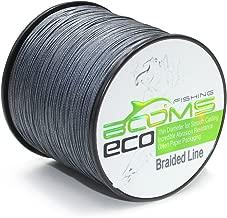Booms Fishing ECO 100% UHMWPE Braided Fishing Line 150Yards-1000Yards,Test 6LB-100LB,Green Gray Yellow