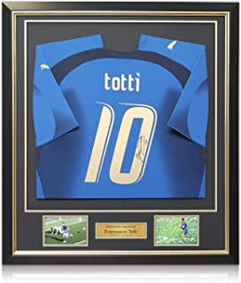 Francesco Totti Signed Italy 2006 World Cup Winners Soccer Jersey, Framed