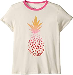 Rainbow Pineapple Ringer Tee (Little Kids/Big Kids)