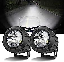 Domilay Motorcycle Headlights 12V Spotlights Bright Moto Fog Spot Lamp Waterproof Motorbike Auxiliary Driving Lights
