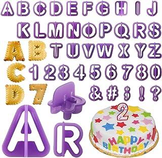 . lettere piccole e 10 pezzi di stampi per torte e fondant 3 setole 26 pezzi di plastica lettere grandi