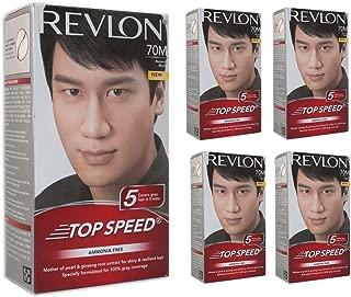 Revlon Top Speed Hair Color Man, Natural Black 70M, (Combo Pack)