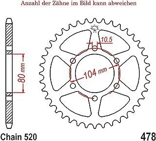Kettenrad mit 45 Zähnen für Z 750 L 2007 2010 von jt Sprockets