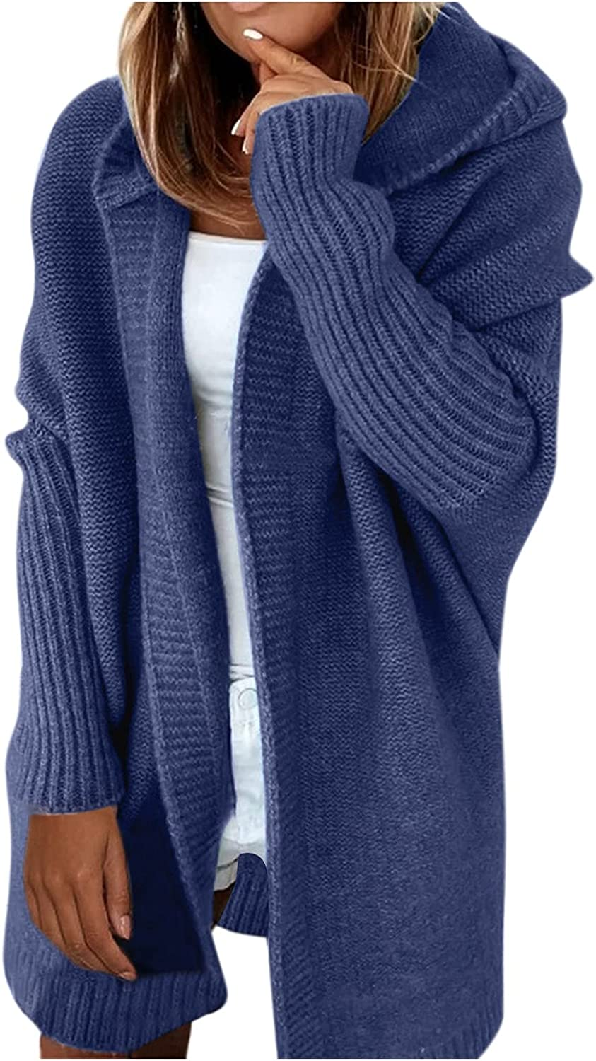 Cardigans Sweaters for Women's Quantity limited Popcorn Oversized shopping Cardigan Hooded