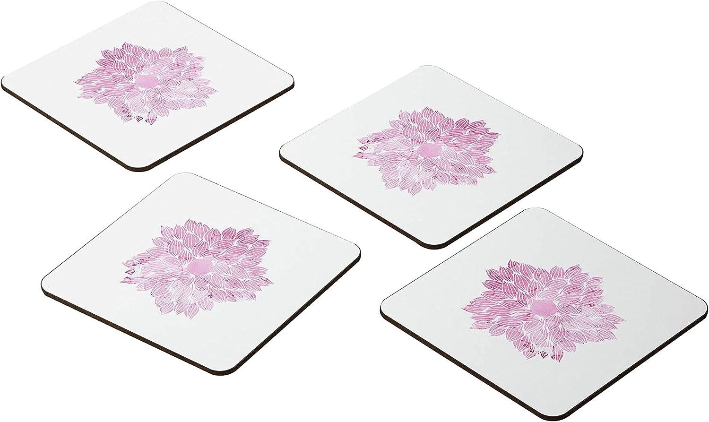 Bonamaison Coasters - Set of 4 MDF Absorbent New item -Premium 9x9CM E Max 85% OFF