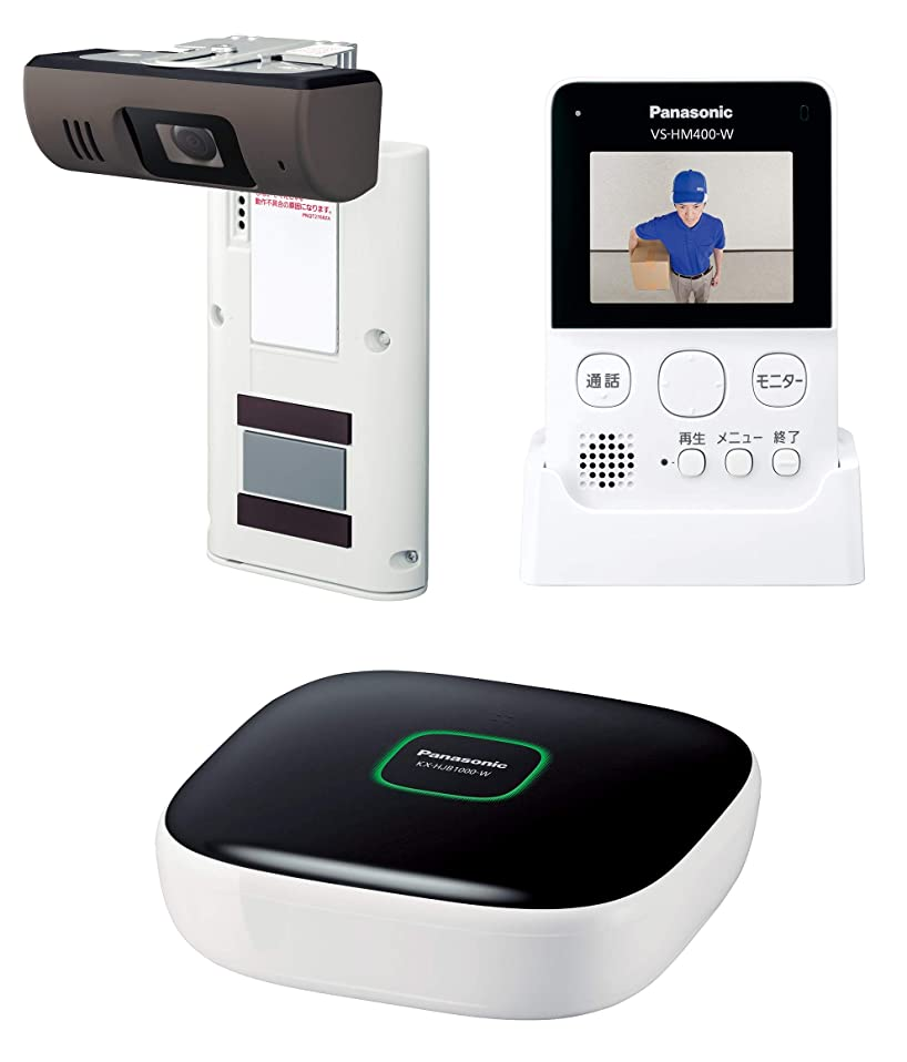 確執遺産ラッチパナソニック モニター付きドアカメラキット VS-HC400K-W