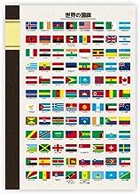 東京カートグラフィック B5ノート国旗 セミB5 7mm横罫 NBWF