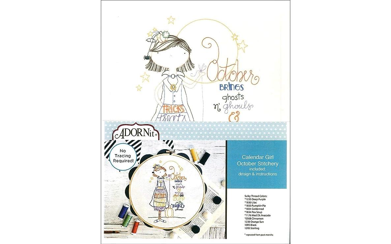 ADORNit 48121 Fabric MS Calender Girls Oct Crafts Supplies