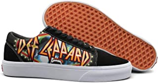 NICESSHOE Def-Band-Leppard-X-Funny- Women's Canvas Shoes Lace Up Shoe