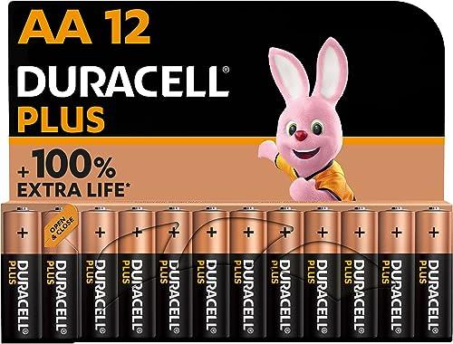 Duracell - NUEVO Pilas alcalinas Plus AA , 1.5 Voltios LR6 MN1500, paquete de 12