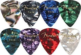Fender 351 Premium Celluloid Guitar Picks (12-Pack) Medium Blue Moto Thin