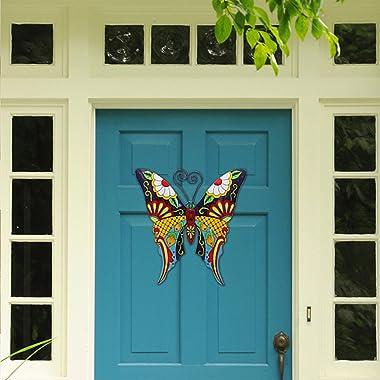 Juegoal Metal Wall Art Inspirational Butterfly Wall Decor Sculpture Hang Indoor Outdoor for Home, Bedroom, Living Room, Offic