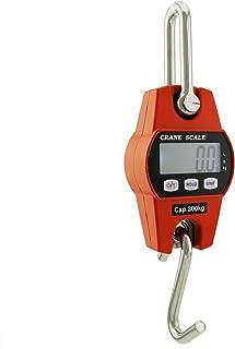Outmate Mini Digital Crane Scale 300kg/600lbs with LED(Aluminium Alloy Shell,Orange)
