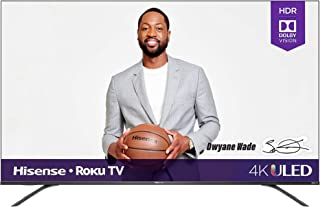 Hisense 65R8F 65-Inch 4K ULED Roku Smart TV with Alexa Compatibility (2020)