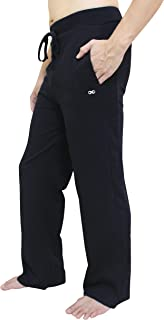 YogaAddict Men's Yoga Long Pants, Pilates, Fitness, Workout, Meditation, Lounge, Tai Chi, Martial Arts Pants (Sale Price)