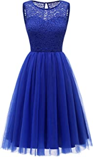 Bbonlinedress Women's Short Tulle Prom Dress Lace Bridesmaid Party Dress Junior Cocktail Swing Dress