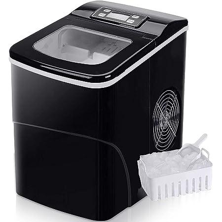 Machine à glaçons FOOING Ice Maker Machine à glaçons Comptoir prêt en 6 minutes Machine à glaçons 2L avec cuillère à glace et panier Affichage LED Machine à glaçons pour le bureau de cuisine