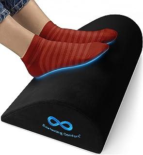 Everlasting Comfort Office Foot Rest for Under Desk - Ergonomic Memory Foam Foot Stool Pillow for...