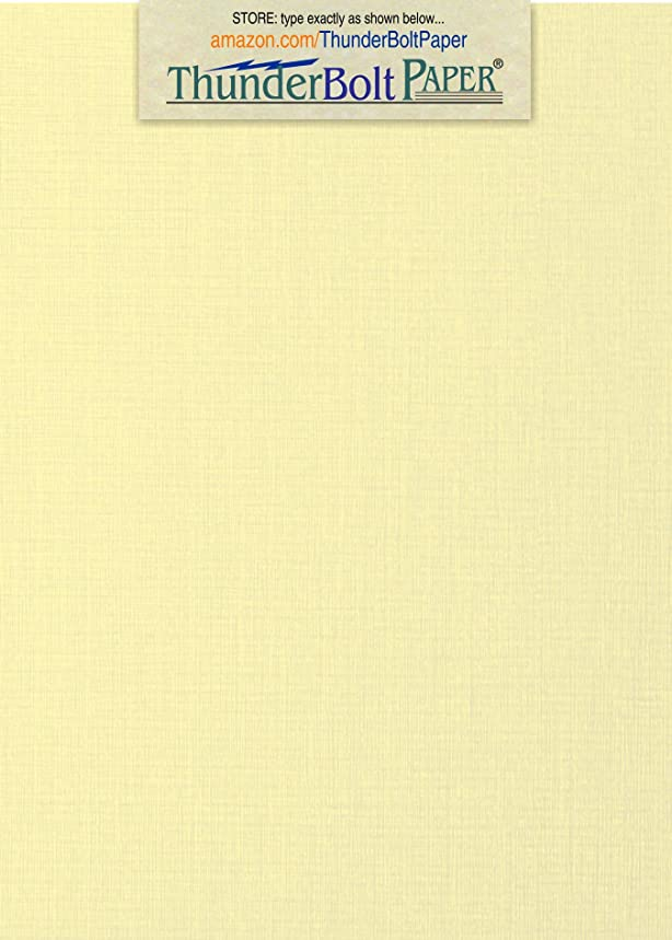 100 Ivory Linen 80# Cover Paper Sheets - 5
