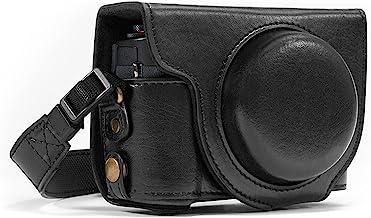 "MegaGear، حقيبة كاميرا جلدية واقية ""Ever Ready"" ، حقيبة لكاميرا Canon PowerShot G7 X الرقمية (أسود)"