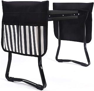 wujomeas Multi-Functional Garden Kneeler and Seat,Foldable Garden Bench Garden Kneeler with 2 Tool Pouches,Garden Foldable...