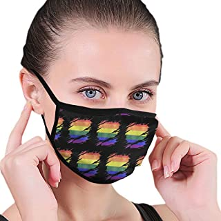 YongColer LGBT Gay Pride Rainbow Flag Dustproof Earloop Mouth Mask for Women Men, Anti Flu Pollen Cleaning Climbing Half Face Mouth Mask - Adjustable Elastic Band Respirator