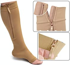 Best toeless compression socks with zipper Reviews