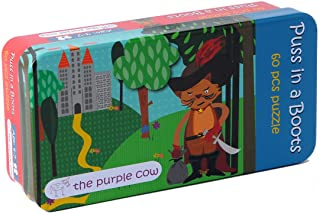 The Purple Cow Fairy Tale Puss in Boots Jigsaw Puzzle - Kids Puzzle 60 Pcs - for Ages 3 & Up