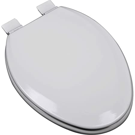 Bath Décor 1f1e5 80 Premium Molded Wood Toilet Seat Silver Gray