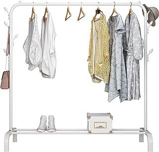 UDEAR Porte-vêtements autoportant Cintre Multifonctionnel Pratique unipolaire Porte-vêtements de Chambre à Coucher, 8 Croc...