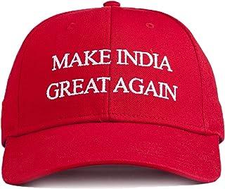 71227098efc URBAN MONKEY Unisex Ferrari Red Make India Great Again Baseball Cap-Free  Size, 100