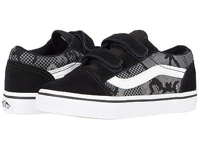 Vans Kids Old Skool V (Infant/Toddler) ((Pattern Camo) Black/True White) Boys Shoes