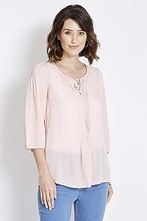 Rockmans 3/4 Sleeve Pintuck Shirt Cameo 24 - Womens