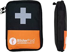 BlisterPod Advanced Foot Blister Kit (18 Pc. Set) First Aid Prevention and Protection for Heels, Toes | Gel Protectors, Plasters, Padding & More | Pack Light for Travel, Hiking, Backpacking, Running