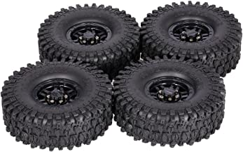 Goolsky 4Pcs AUSTAR AX-5020C 1.9 Inch 120mm Tires with Hub for 1/10 Traxxas Redcat SCX10 AXIAL RC4WD TF2 Rock Crawler