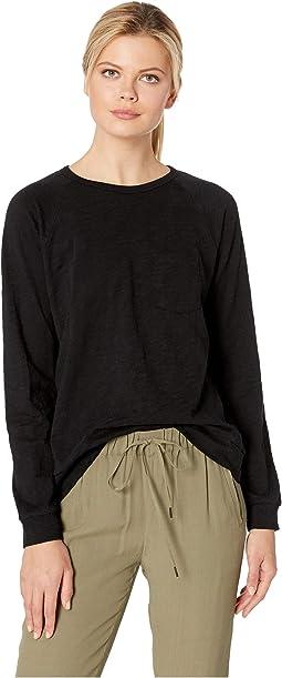 Pocket Sweatshirt in Loose Knit Slub