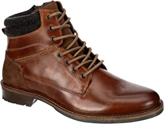 Franco Fortini Men's Isaac - Leather Round Toe Lace-up Casual Boot