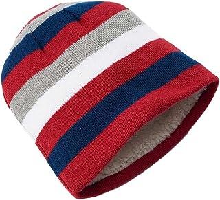 05c3eb20d7a Urban Pipeline Men Thin Striped Beanie Hat White Fur Multi Colored One Size
